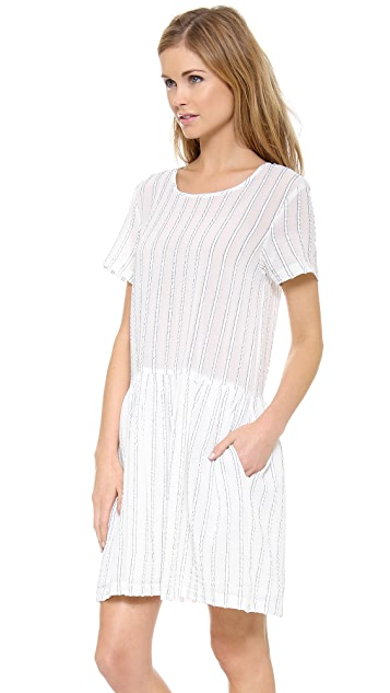 Sea Striped Gauze Popover Dress