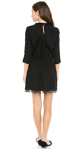 Sea Lace Combo Long Sleeve Dress
