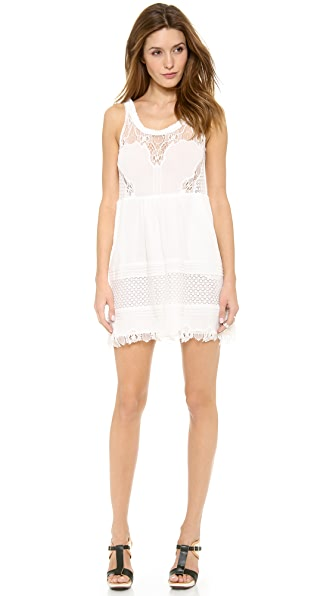 Sea Lace Ruffle Dress