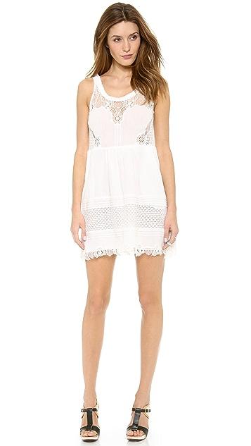 Sea Lace Ruffle Dress