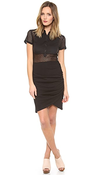 Sea Lace Button Down Sheath Dress