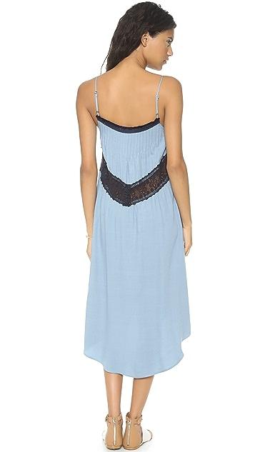 Sea Lace Inset Tank Dress
