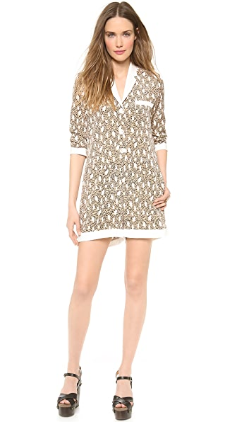 Sea Snow Leopard Romper