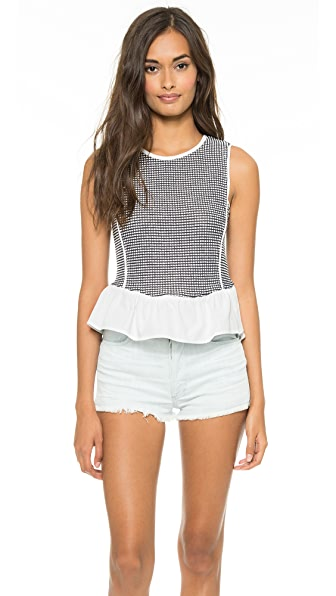 Sea Dot Combo Peplum Tank