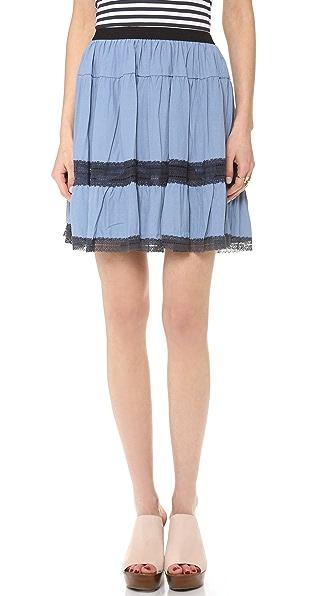 Sea Broomstick Lace Skirt