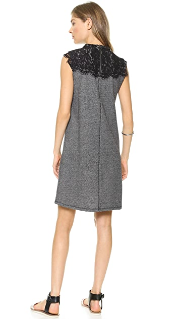 Sea Lace Combo Sleeveless Dress