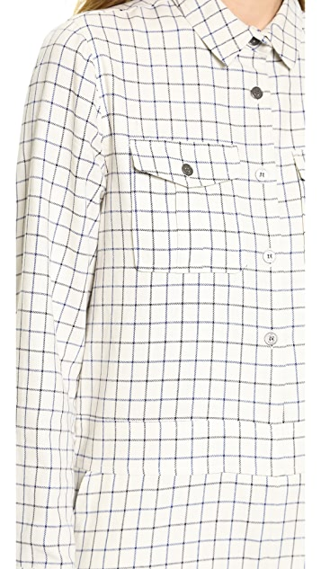 Sea Flannel Shirt Romper