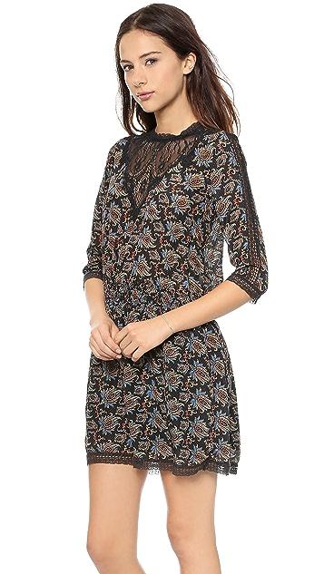 Sea Lace Combo Smocked Dress