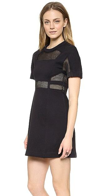 Sea Cutout Short Sleeve Dress