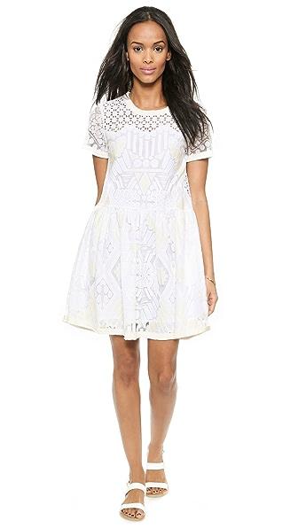 Sea Popover Lace Dress