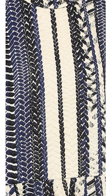 Sea Embroidered Shift Dress