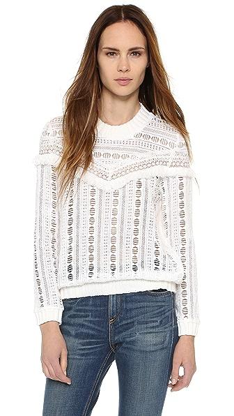 Sea Striped Gauze Sweater - White