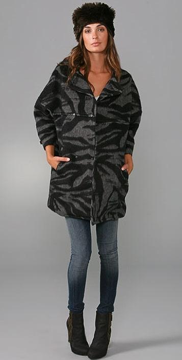 See by Chloe Bow Snap Lady Coat