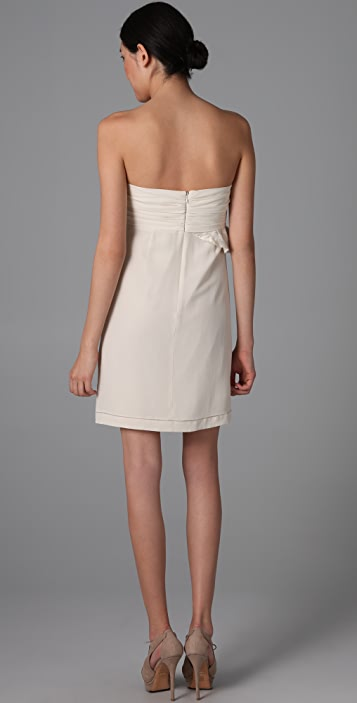 See by Chloe Strapless Wrap Ruffle Dress