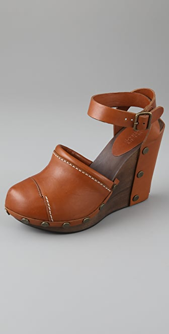 See by Chloe Closed Toe Wedge Sandals