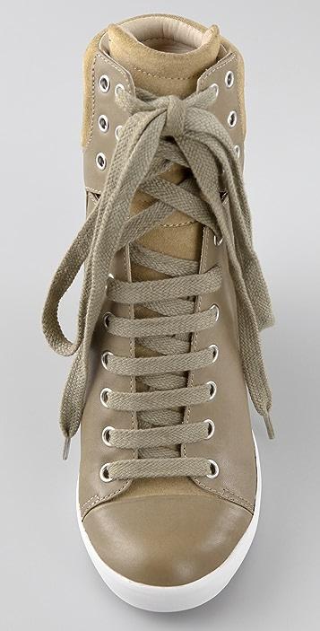 See by Chloe Hi Top Wedge Sneakers