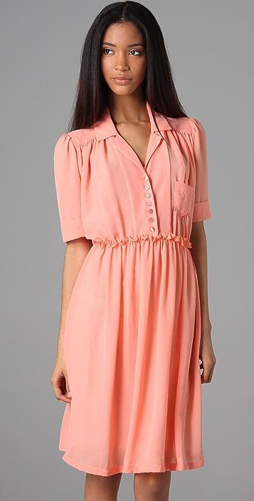 See by Chloe Short Sleeve Shirtdress