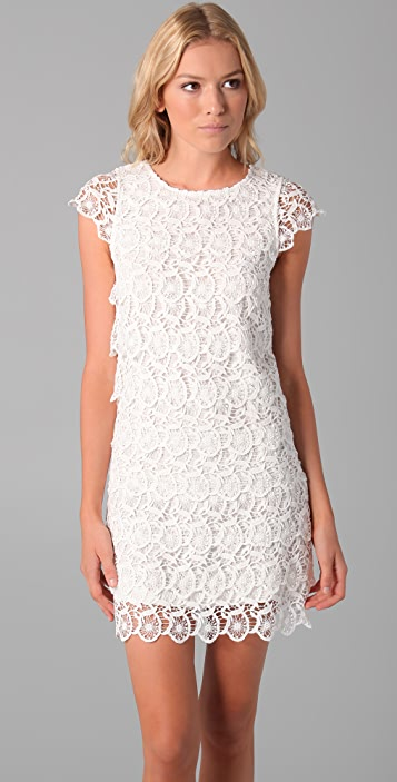 See by Chloe Short Sleeve Lace Tiered Dress