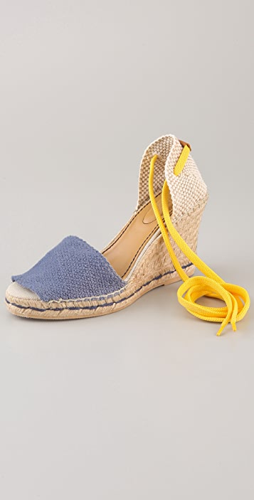 See by Chloe Contrast Ankle Tie Espadrilles