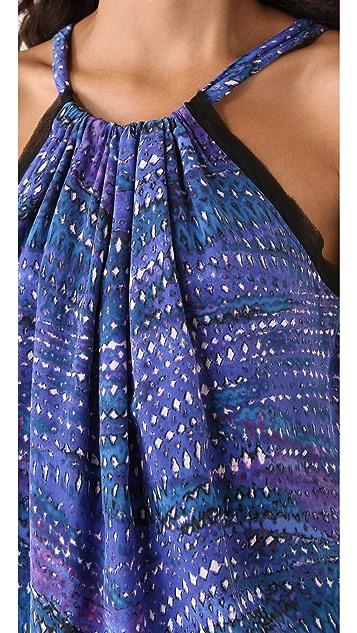 See by Chloe Halter Printed Dress