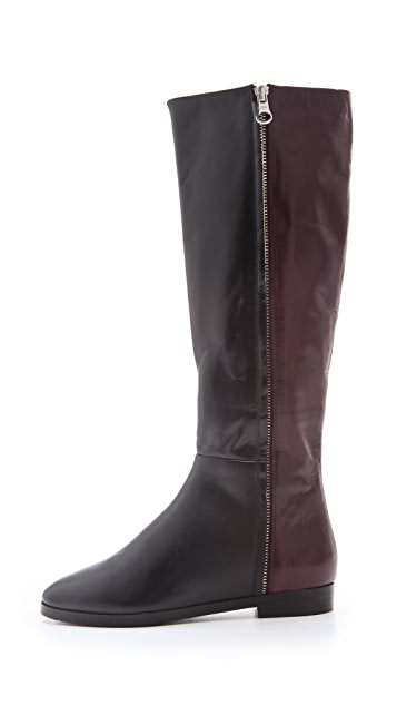 See by Chloe Two Tone Flat Boots