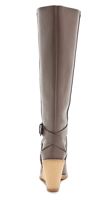 See by Chloe Crepe Wedge Boots