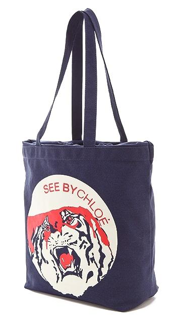 See by Chloe See by Tiger Medium Shopping Bag