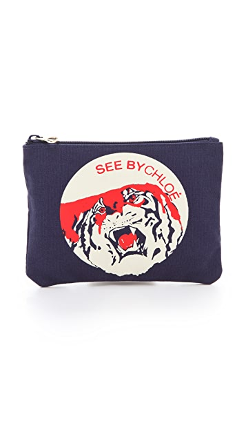 See by Chloe See by Tiger Zipped Pouch