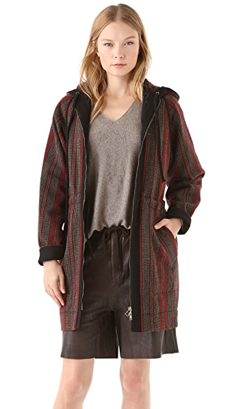See by Chloe Hooded Drawstring Coat