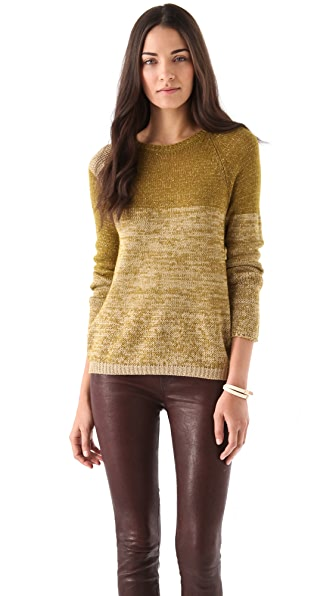 See by Chloe Metallic Crew Neck Pullover