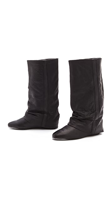 See by Chloe Knee High Boot with Leather Ruching