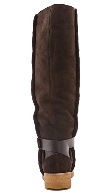 See by Chloe Knee High Boot with Wrap Around Strap and Buckle