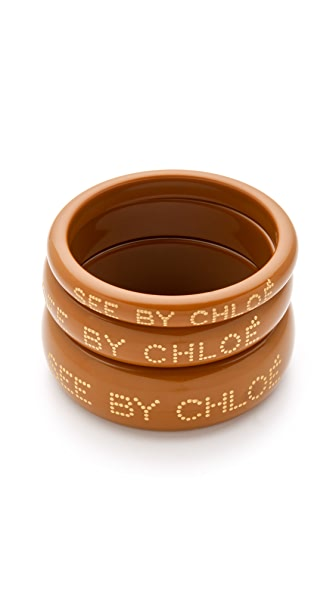 See by Chloe Logo Bangles