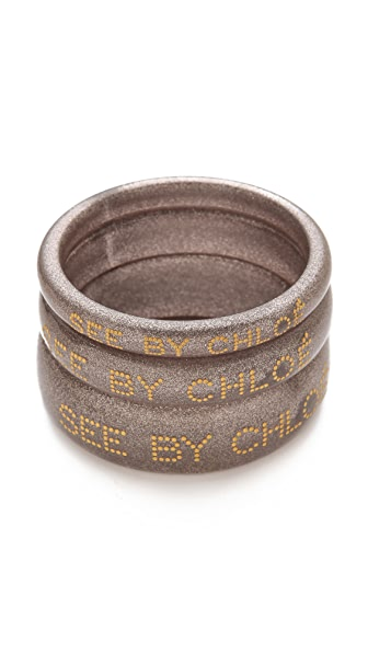 See by Chloe Logo Bangle Set