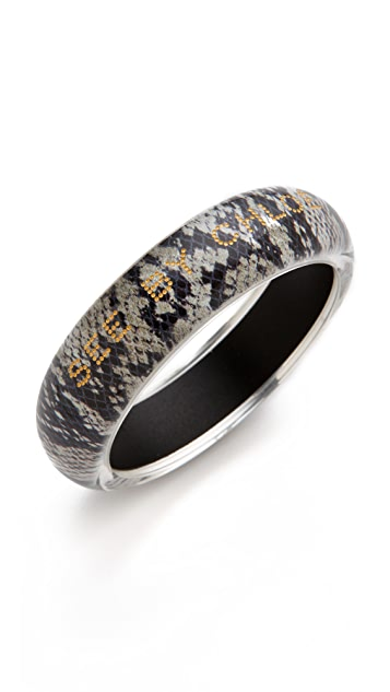 See by Chloe Python Printed Bangle