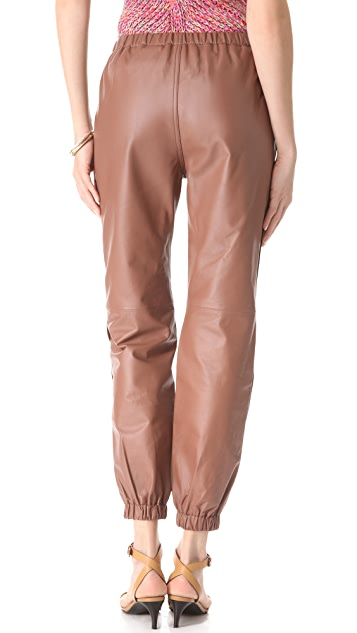 See by Chloe Washed Leather Slouch Pants