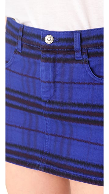 See by Chloe Tribal Print Denim Skirt
