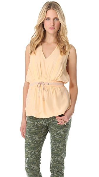 See by Chloe Drawstring V Neck Top