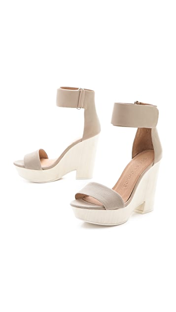See by Chloe Ankle Wrap Wedge Sandals