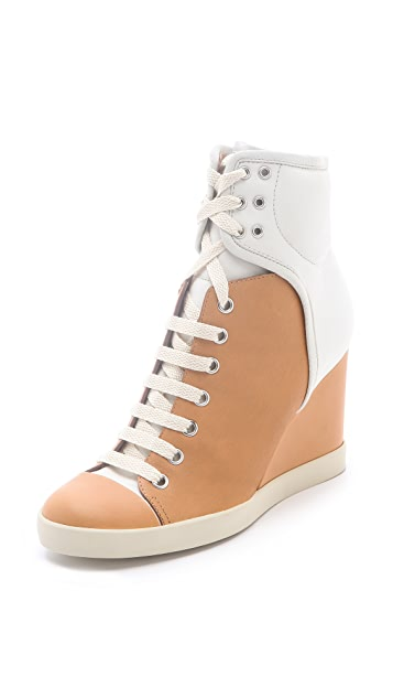 See by Chloe Two Tone Wedge Sneakers