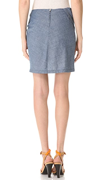 See by Chloe Chambray Miniskirt
