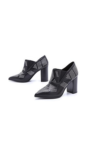 See by Chloe Studded Point Toe Booties