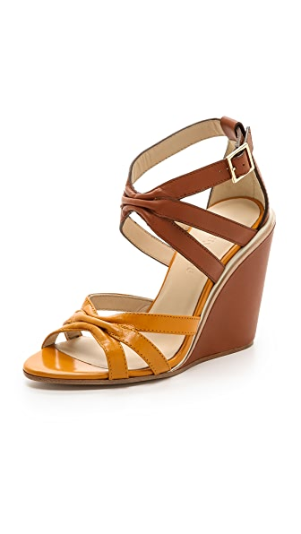 See by Chloe Two Tone Wedge Sandals