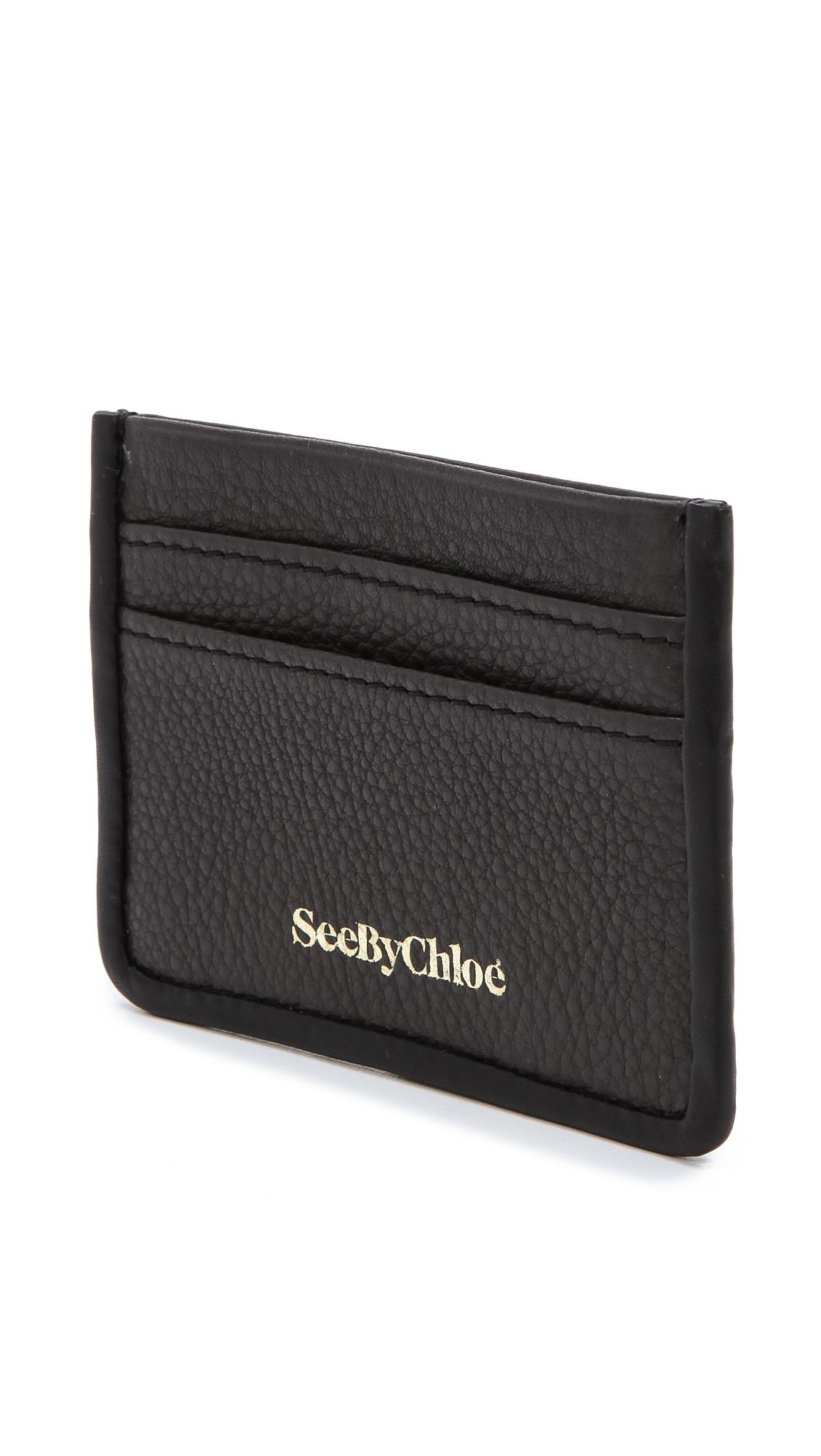 see by chloe april pass card holder shopbop - Chloe Card Holder