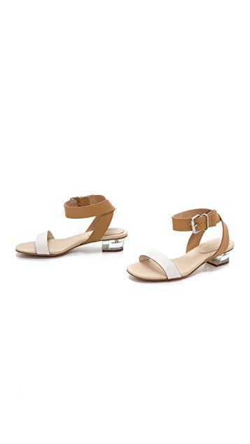 See by Chloe Lucite Low Heeled Sandals