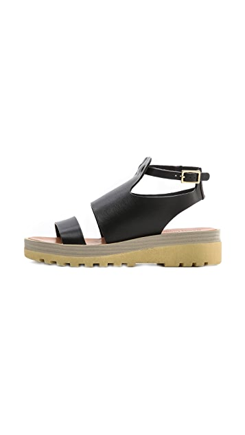See by Chloe Ankle Strap Flat Sandals