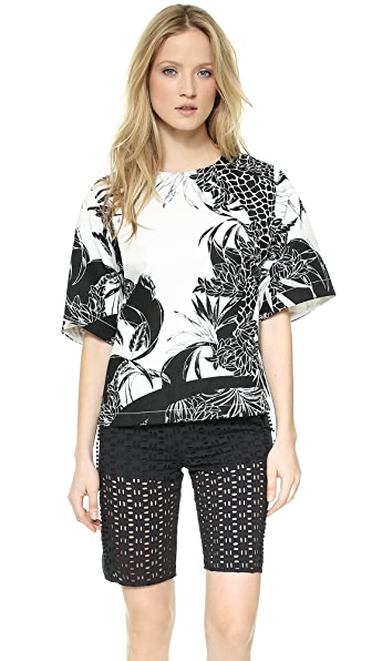 See by Chloe Crew Neck Top with Back Zip
