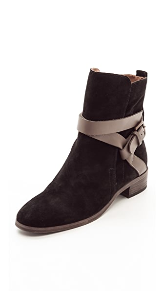 See by Chloe Buckled Strap Flat Booties