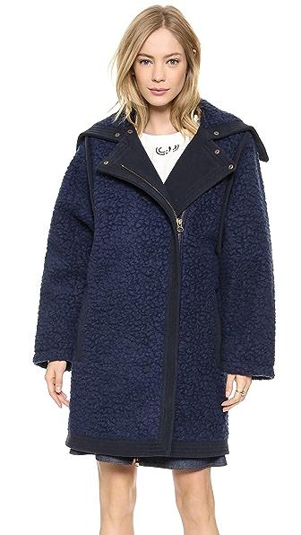 See by Chloe Fur Effect Coat