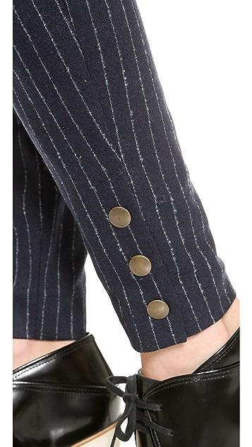See by Chloe Long Rise Pinstripe Pants